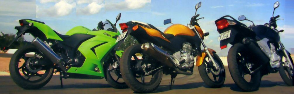 ninja cb fazer tras Comparativo CB 300R x Fazer 250 x Ninja 250 na pista